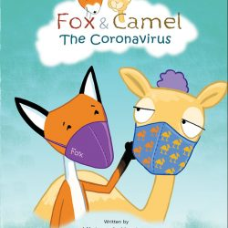 Cover illustration showing Fox and Camel wearing cloth face coverings to protect against COVID-19